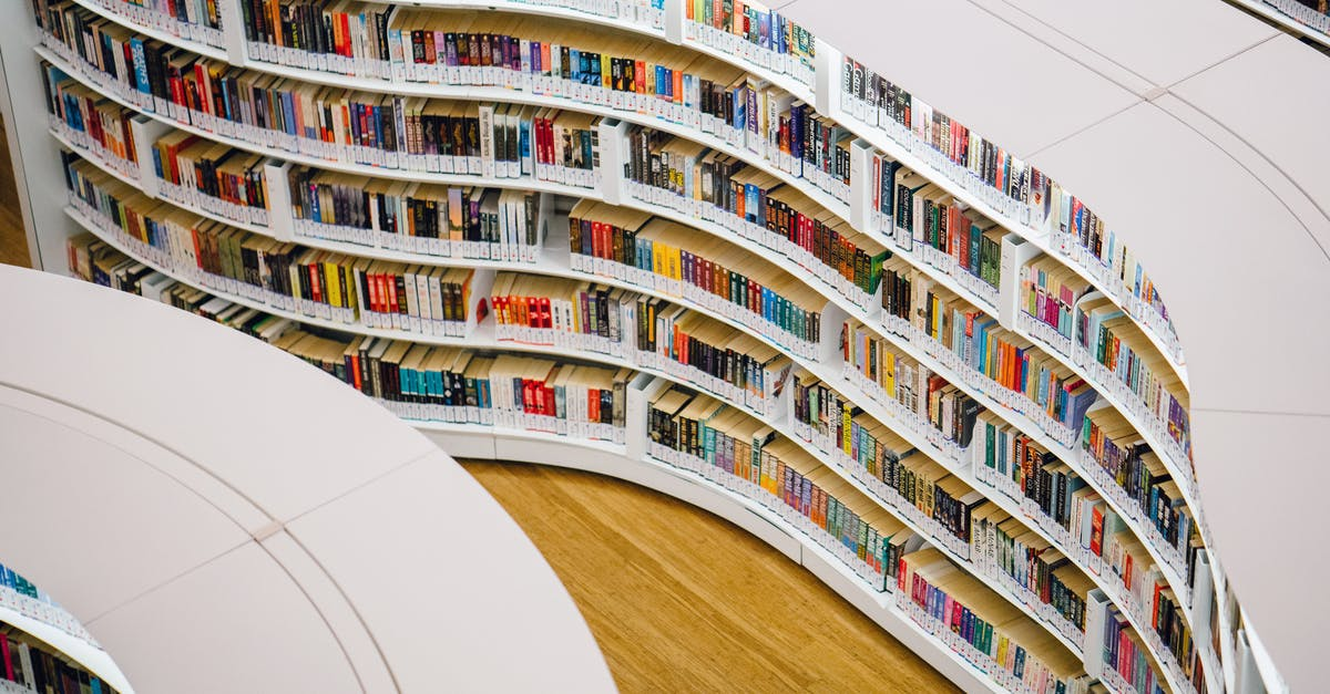 A tall building in a library