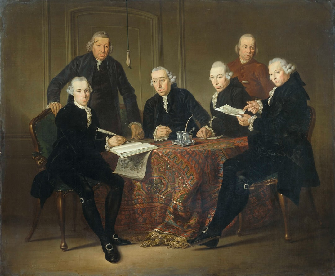 A group of people sitting at a table